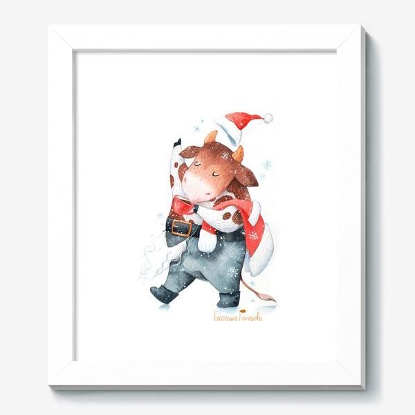 Картина «открытка к году быка»