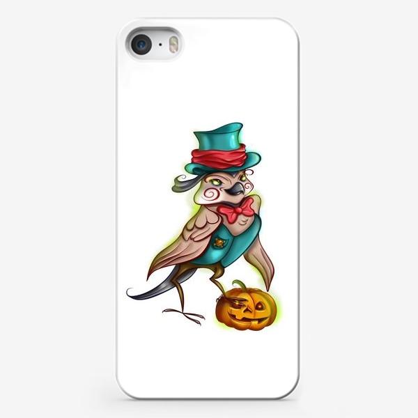 Чехол iPhone «Воробей с тыквой »