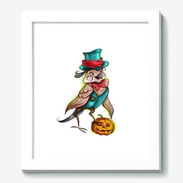 Картина «Воробей с тыквой »