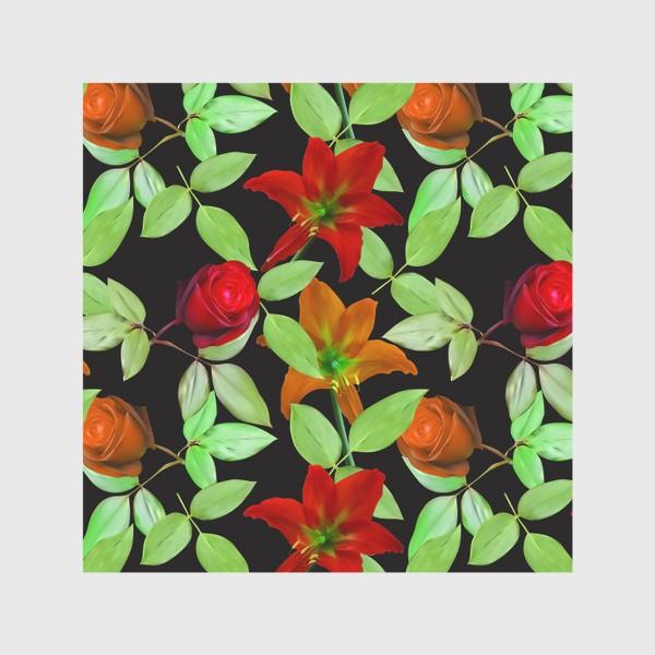 Скатерть «Бесшовный фон с розами»