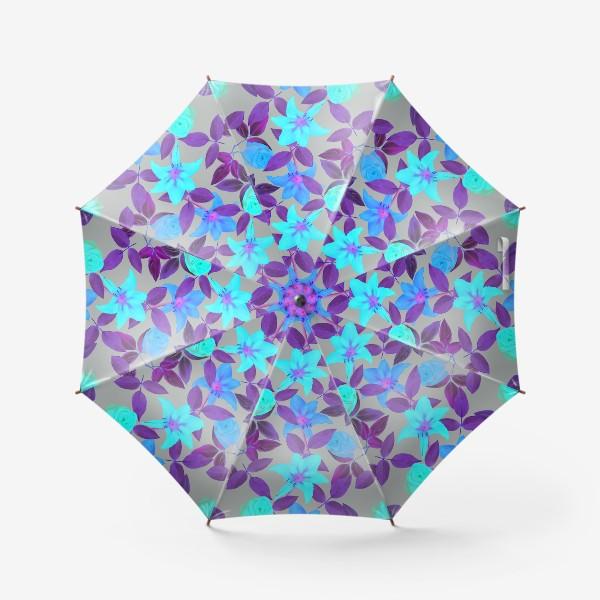 Зонт «Бесшовный фон с розами»