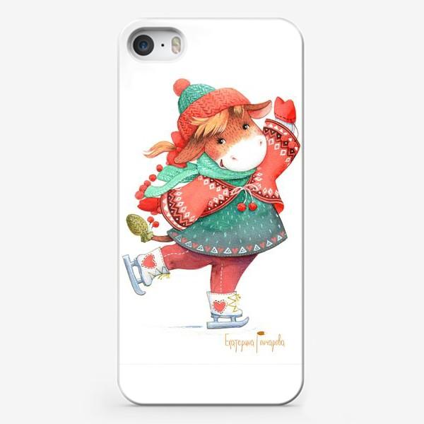 Чехол iPhone «коровка на льду»