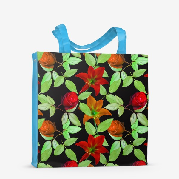 Сумка-шоппер «Бесшовный фон с розами»