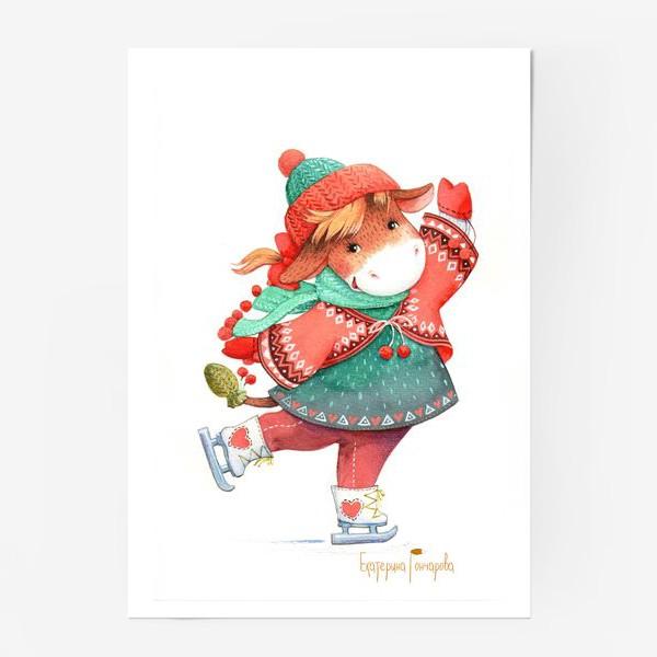Постер «коровка на льду»