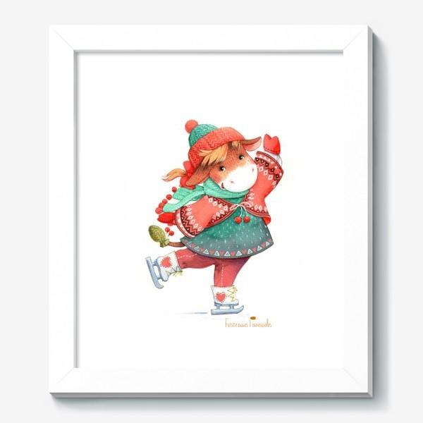Картина «коровка на льду»