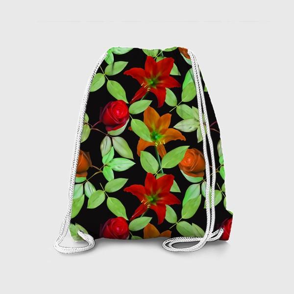 Рюкзак «Бесшовный фон с розами»