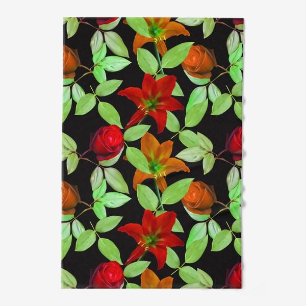 Полотенце «Бесшовный фон с розами»