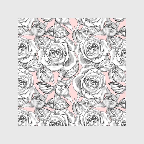 Скатерть «Танец серых роз»