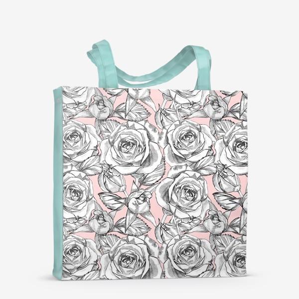 Сумка-шоппер «Танец серых роз»