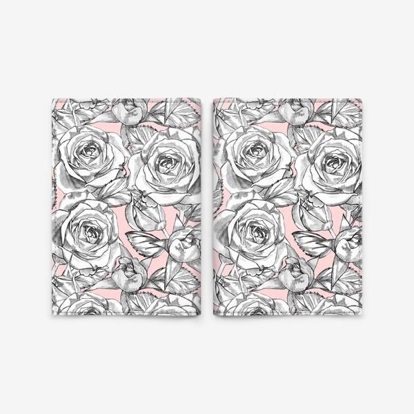 Обложка для паспорта «Танец серых роз»