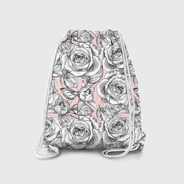 Рюкзак «Танец серых роз»