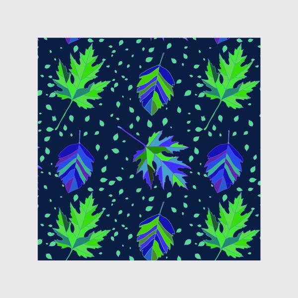 Шторы «Бесшовный фон с осенними лесными листьями.»