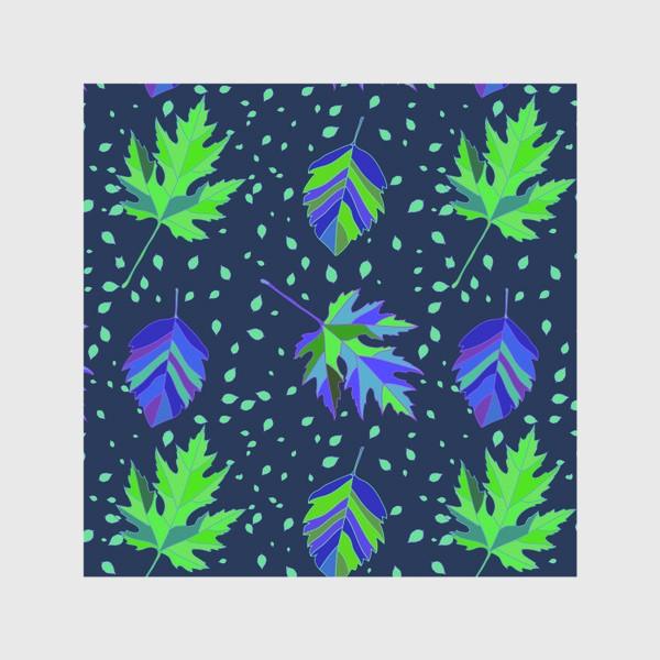 Скатерть «Бесшовный фон с осенними лесными листьями.»