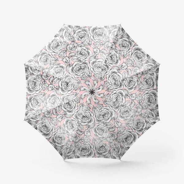 Зонт «Танец серых роз»