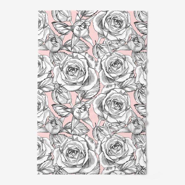 Полотенце «Танец серых роз»