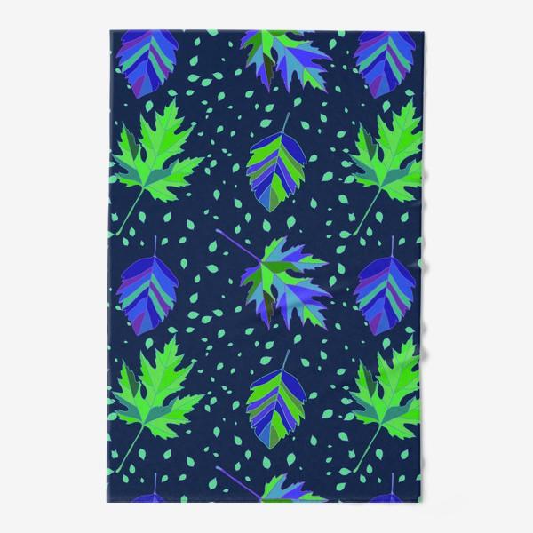 Полотенце «Бесшовный фон с осенними лесными листьями.»