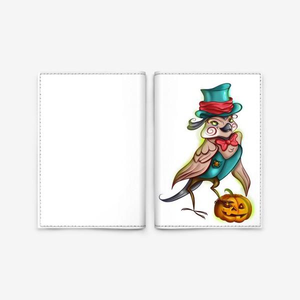 Обложка для паспорта «Воробей с тыквой »