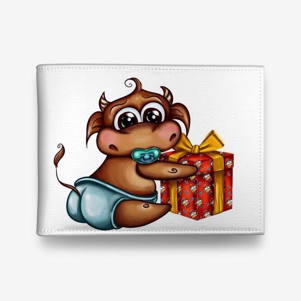 Кошелек «Малыш Бычок с подарком »