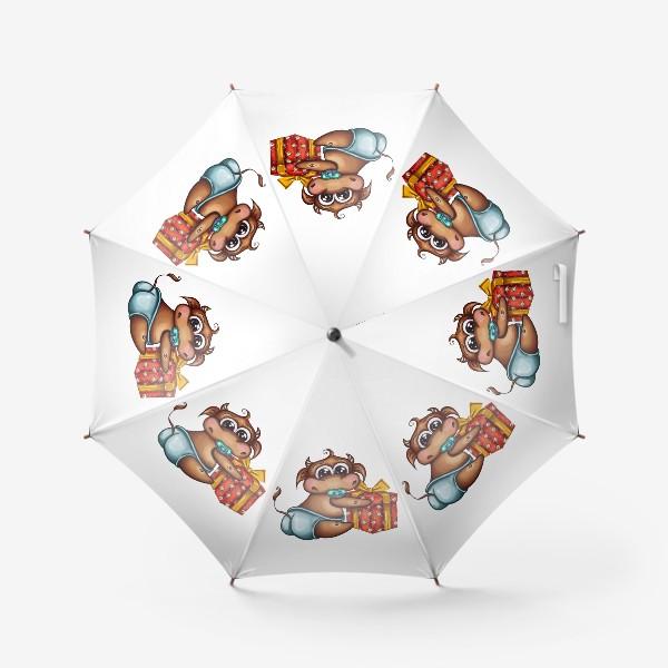 Зонт «Малыш Бычок с подарком »