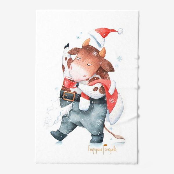 Полотенце «открытка к году быка»