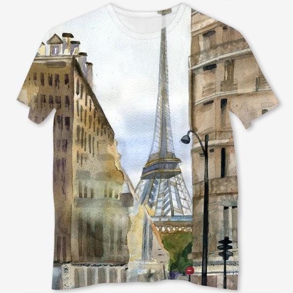 Футболка с полной запечаткой «Париж»