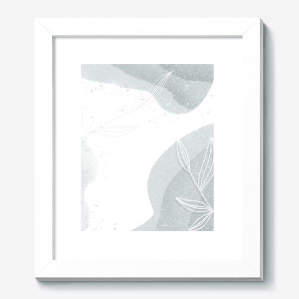 Картина «Нежные веточки мятно зеленые на белом»