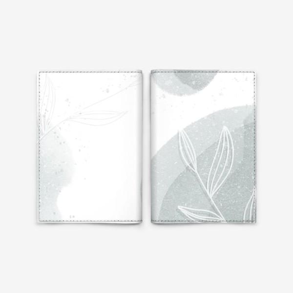 Обложка для паспорта «Нежные веточки мятно зеленые на белом»