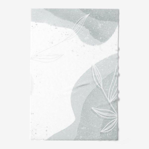 Полотенце «Нежные веточки мятно зеленые на белом»