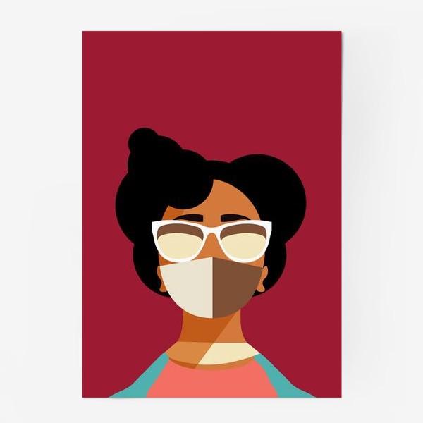 Постер «девушка в маске»