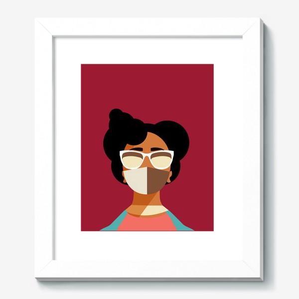 Картина «девушка в маске»