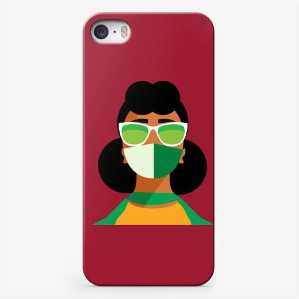 Чехол iPhone «девушка в маске»