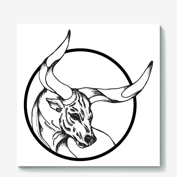 Холст «Бык символ 2021»