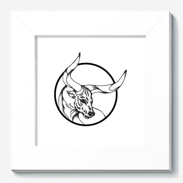 Картина «Бык символ 2021»