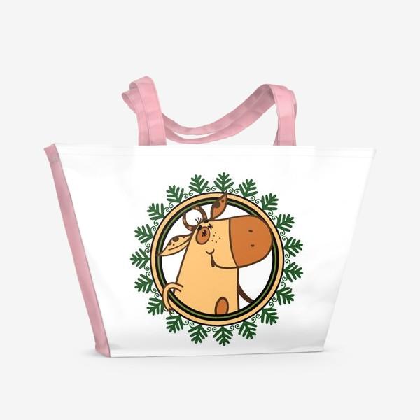 Пляжная сумка «Год БЫКА»