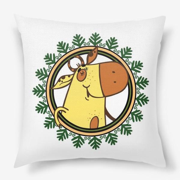 Подушка «Новогодний бычок»