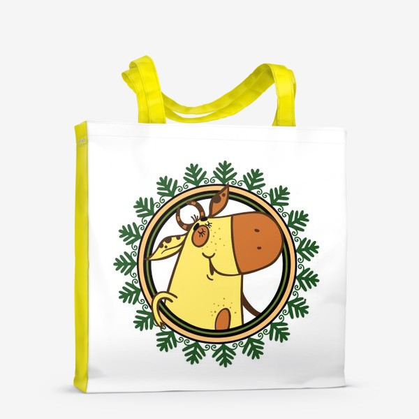 Сумка-шоппер «Новогодний бычок»