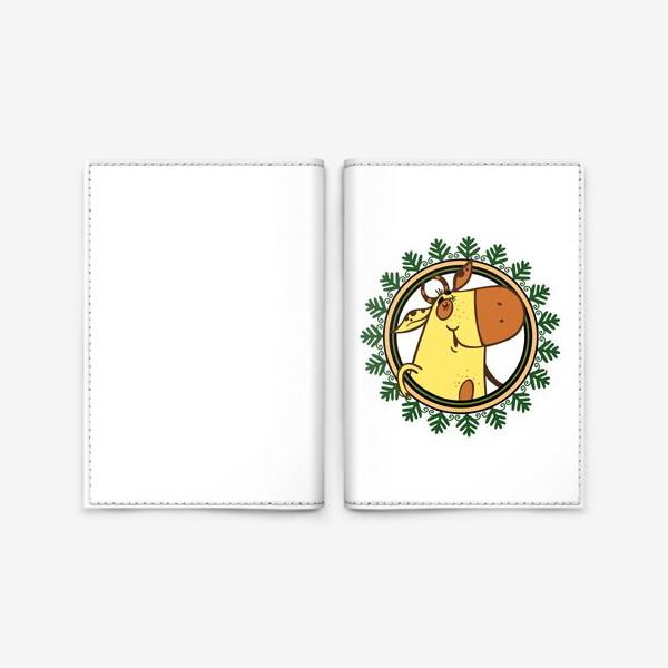 Обложка для паспорта «Новогодний бычок»