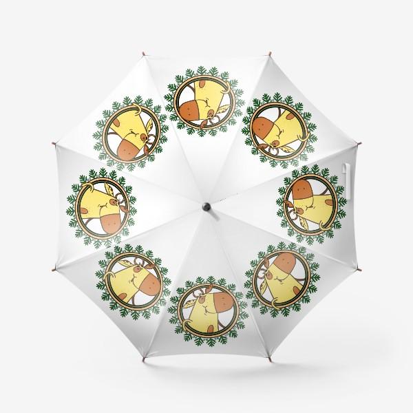Зонт «Новогодний бычок»