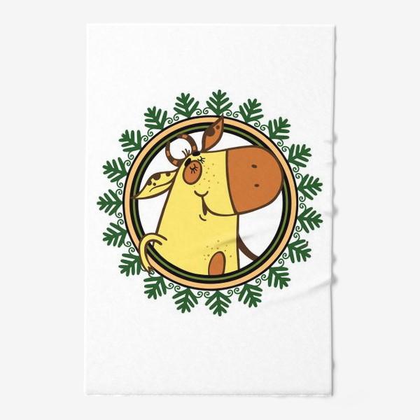Полотенце «Новогодний бычок»
