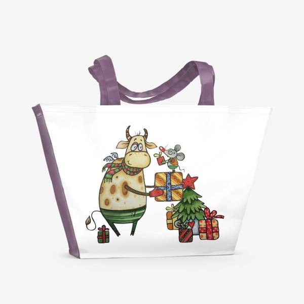 Пляжная сумка «Новый год!»