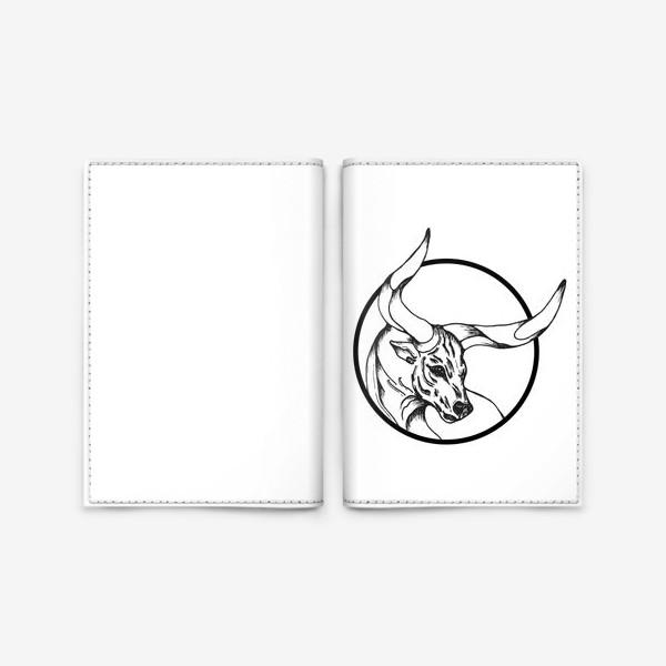 Обложка для паспорта «Бык символ 2021»