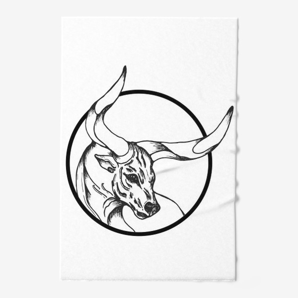 Полотенце «Бык символ 2021»