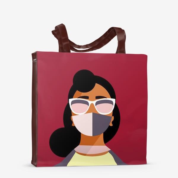 Сумка-шоппер «девушка в маске»
