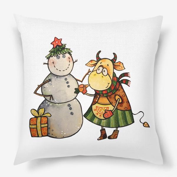 Подушка «Новогодние забавы»