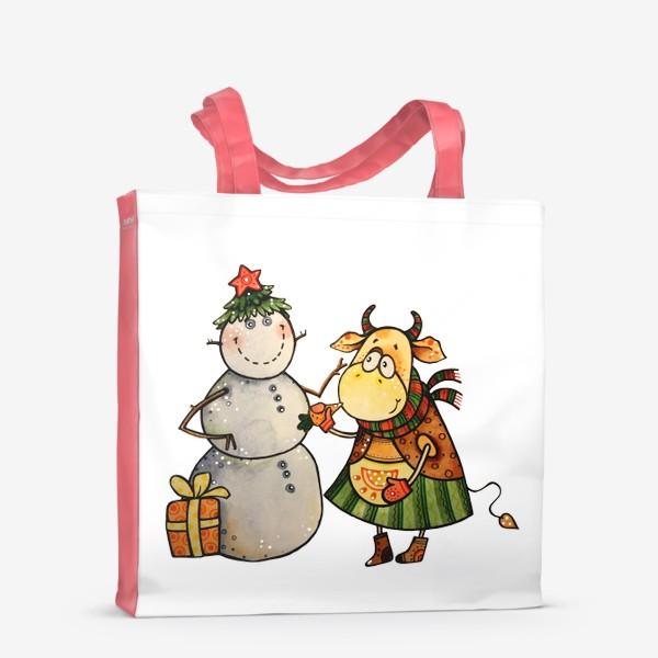 Сумка-шоппер «Новогодние забавы»