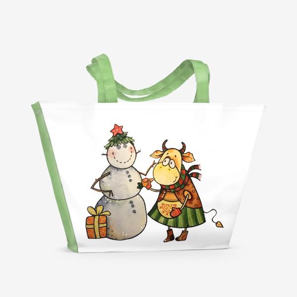 Пляжная сумка «Новогодние забавы»