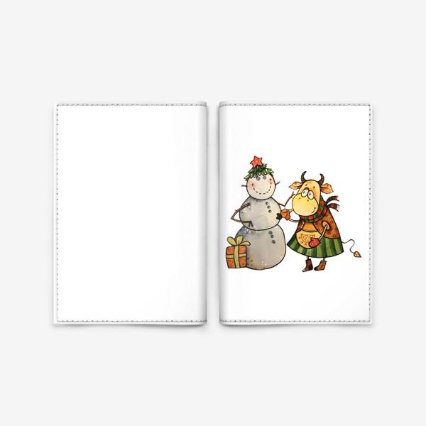 Обложка для паспорта «Новогодние забавы»