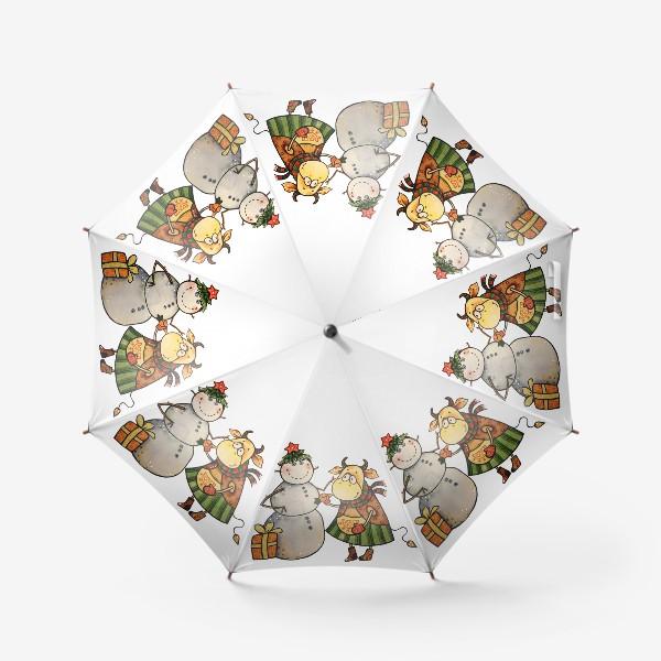 Зонт «Новогодние забавы»