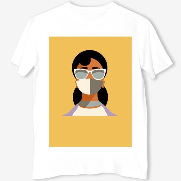 Футболка «девушка в маске»