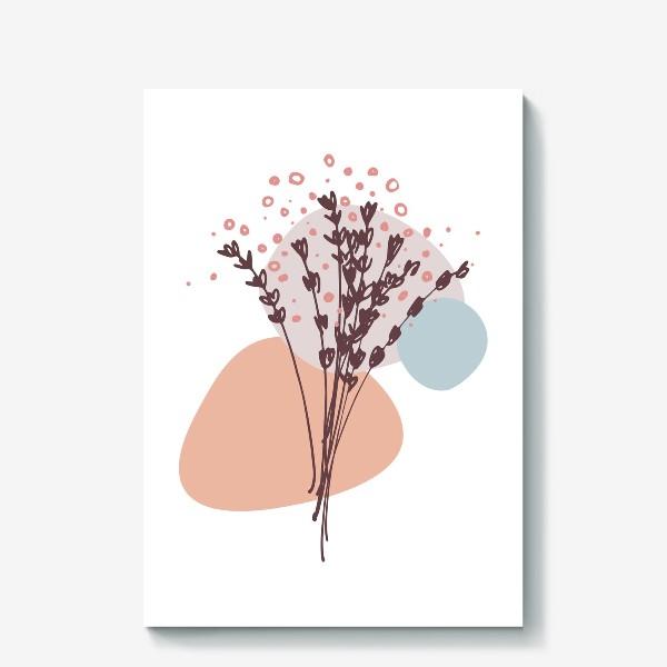 Холст «Цветы абстракция»